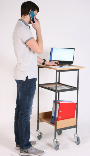 Steh- /Arbeitspult fahrbar
